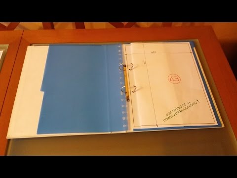 How to fold A3 to fit in A4 ring binder