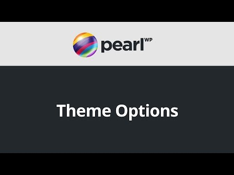 Pearl – Theme Options