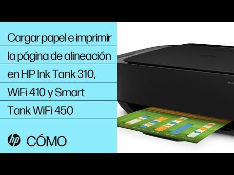 Cómo cargar papel e imprimir la página de alineación en las impresoras HP de las series Ink Tank 310, Ink Tank Inalámbrica 410 y Smart Tank Inalámbrica 450