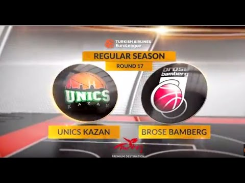 EuroLeague Highlights RS Round 17: Unics Kazan 63-58 Brose Bamberg