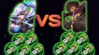 Miya Max damage vs clint Max damage - Mobile legends