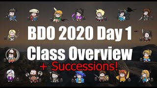 Black Desert Online 2020 complete class overview with successions!