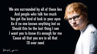 Ed Sheeran - Tenerife Sea (Lyrics) 🎵