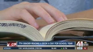 7th grader reading a book a day for school year