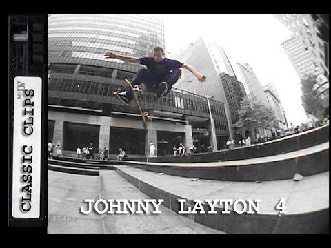 Johnny Layton Skateboarding Classic Clips #226 Part 4