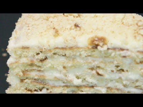 Торт на сковороде с заварным кремом Простой рецепт вкуснейшего торта