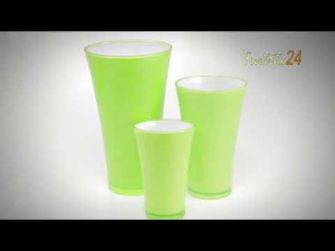 Floristik24 Vase Fizzy Apfelgrün