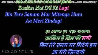 Bin Tere Sanam Mar Mitenge Hum - Karaoke With Scrolling Lyrics Eng. & हिंदी