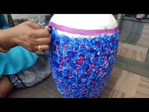 Amazing home and garden decore idea using Old matka(clay pot) | How to recycle waste pot.