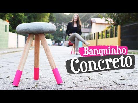 Banquinho de concreto
