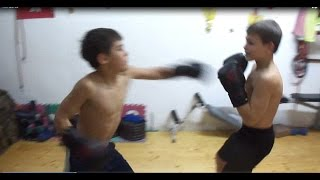 Giuliano and Claudio boxing sparing