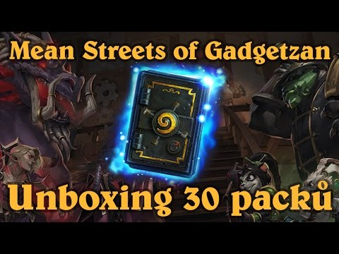 Hearthstone: Mean Streets of Gatgetzan - Unboxing 30 packů