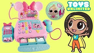MINNIE MOUSE Cash Register Grocery Shopping Trip Kids Pretend Play