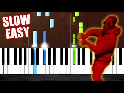 Te Bote Remix - SLOW EASY Piano Tutorial by PlutaX