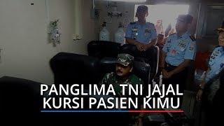 Panglima TNI Jajal Kursi Pasien dalam Pesawat Kontainer Isolasi Medis Udara untuk Virus Corona
