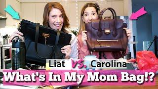 What's In My Mom Bag/Purse - Liat Vs. Carolina