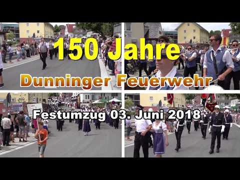 Feuerwehr Dunningen 150 Jahre Festumzug am 03. 06. 2018