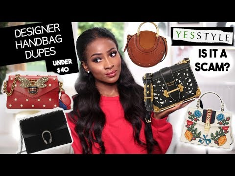 THE BEST DESIGNER HANDBAG DUPES UNDER $40!! | IS YESSTYLE ACTUALLY LEGIT??