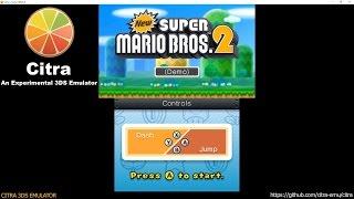 Citra 3DS Emulator - New Super Mario Bros. 2 DEMO Ingame Shader JIT