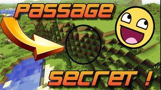 TUTO MINECRAFT : FAIRE UN PASSAGE SECRET SUPER FACILE !