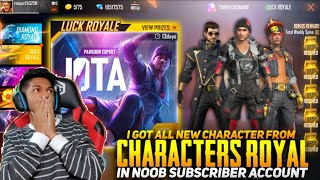 buying all new 30 character in noob subscriber account i used 10 000 in subscriber account free fire