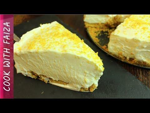 LEMON CHEESECAKE/ COLD CAKE RECIPE (NO BAKE) *COOK WITH FAIZA*