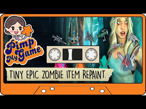 Tiny Epic Zombies Item Repaint Tutorial and Unboxing