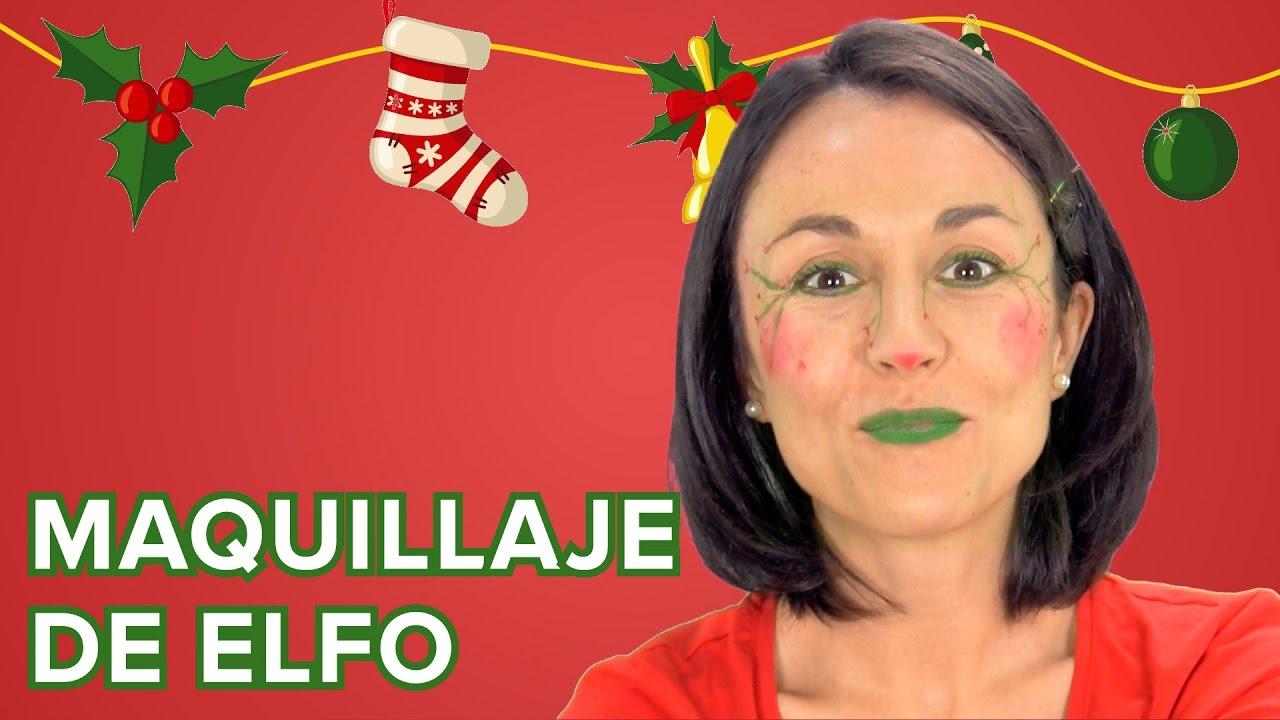 Maquillaje de Elfo de Navidad para niños
