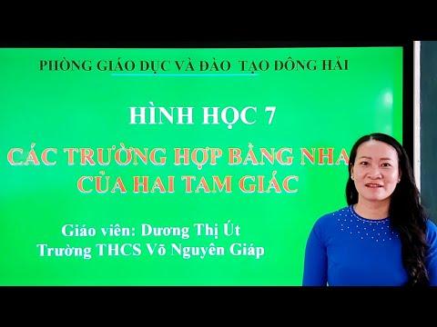 Ôn Tập Môn Toán Lớp 7 - Dạy Học Qua Mạng |Phòng GD&ĐT Đông Hải - Bạc Liêu