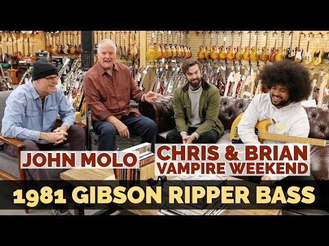 John Molo with Brian Jones & Chris Tomson | 1981 Gibson Ripper Bass