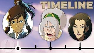 The Complete Legend Of Korra Timeline | Channel Frederator
