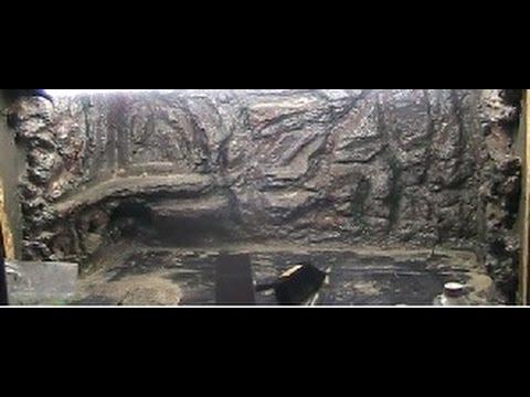 Schlangenblog für Dummies Nr. 26 Terrarium Rückwand aus Styropor und Fliesenkleber selber bauen