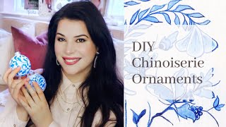 CHINOISERIE! Blue And White Ornaments DIY  ♡MissJustinaMarie