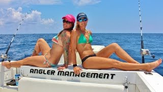 Two Girls Offshore Florida Fishing and Catching Kingfish