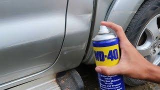 วิธีลบรอยขีดข่วนรถยนต์ด้วย WD-40