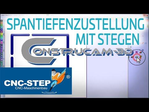 ConstruCAM-3D Software: Haltestege und Spantiefenzustellung