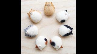 A0220 Cat Wool Needle Felting