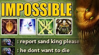 Impossible to kill [Sand King] Please report him | Dota 2 Ability Draft