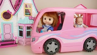 Baby doll kitchen bus and swing house play baby Doli house