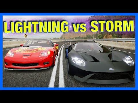 Lightning McQueen vs Jackson Storm!! (Forza Horizon 3 Online)