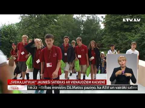 """VIDEO: Latviešu jaunieši no ASV , Kanādas un Austrālijas piedalās nometnē """"Sveika, Latvija!"""""""