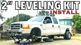 "Mod #2 - 2001 F350 Project - 2"" Leveling Kit install LOOKS SO MUCH BETTER"