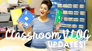 Classroom Tour: Interactive Notebooks, Data Binders, And Updates! TEACHER VLOG
