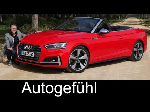 The best convertible? Audi S5 Cabriolet FULL REVIEW test driven V6 all-new A5 neu 2018 - Autogefühl