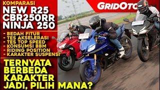 Komparasi New R25 VS CBR250RR VS New Ninja 250
