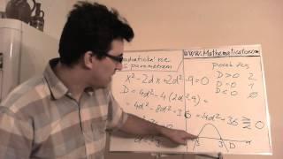 Rovnice s parametrem - Kvadratická - diskutujte počet řešení v závislosti na parametru
