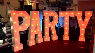 Giant Illuminated Letters @Phase  One DJ Store