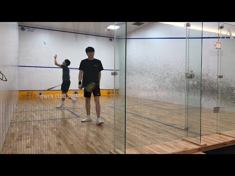 Owen club squash 김형석(루비스채피) vs 윤정준(코넬)