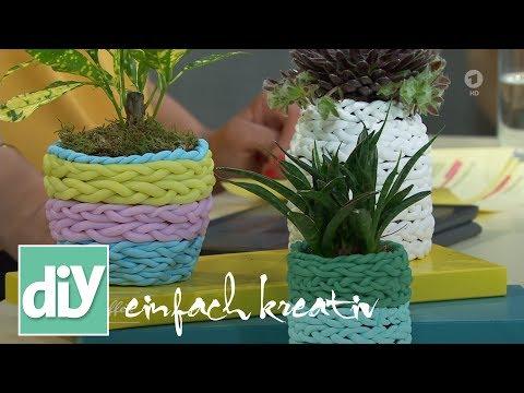 Geflochtener Blumenübertopf | DIY einfach kreativ