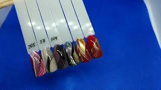 Лента для дизайна ногтей ( 3D нити сплетения гибкие ) серебро от компании Интернет-магазин Маник - видео